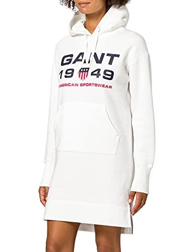 Gant D2. Retro Shield Hoodie Dress Vestido, Fuente de Huevo, XS para Mujer
