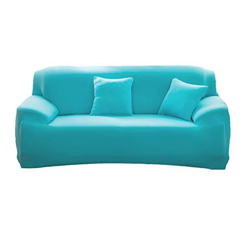 Mansardo 1 Pieza Extensible Cubre Sofá para Salón,Elástica Tela Poliéster Protector para Sofás Moderno Universal Cubre Sofá,Funda para Sofá para Mascota Niños-Azul Pillowcase(45 * 45cm)