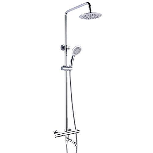 BXU-BG Kit de cabezal de ducha de mano con control termostático para bañera de doble mango con grifo de lluvia y alcachofa de ducha (tamaño : juegos de ducha)