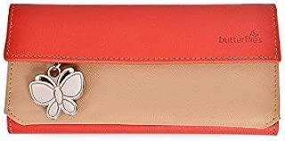 Butterflies Women's Wallet (Red/Beige) (BNS 2037)