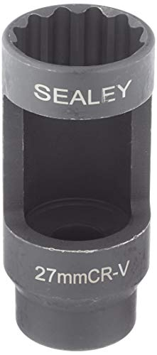 Sealey Sx024 Diesel Injecteur Socket, paroi Mince 1/5,1 cm carré d'entraînement, 27 mm