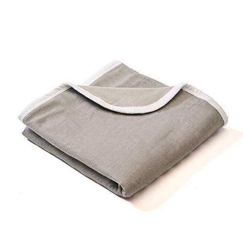 SYB Couverture Bébé - flanelle coton - à bouclier contre les radiations EMF (Gris Uni)