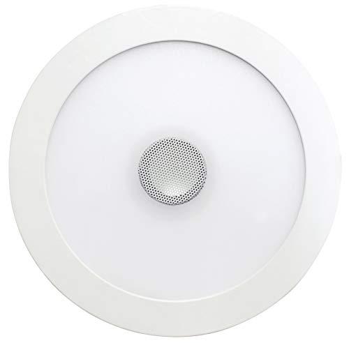 SevenOn LED 64405 Downlight LED SMD extraplano con altavoz redondo, blanco, 18+4W, 120º, 1300 lúmenes, blanco neutro (4000K), IP20, conexión bluetooth. No regulable.