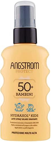 Angstrom Protect Latte Solare in Formato Spray, Protezione Solare Corpo 50+ con Azione Idratante e Duratura, Indicata per Pelli Sensibili, 175 ml