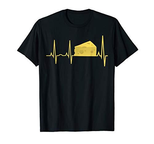 Käse Heartbeat Shirt - Lustiges Käse-Liebhaber-Geschenk