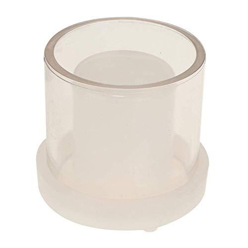 AMITD 2 stuks holle cilinder kaarsenmakerij vormen DIY LED-kaars plastic duurzame houder handgemaakte zeep accessoires