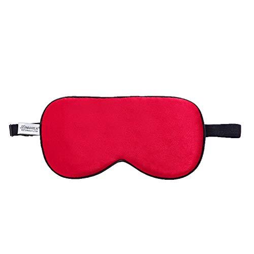 Zimasilk Verstelbaar 100% zijde slaapmasker, goed voor de slaap rood