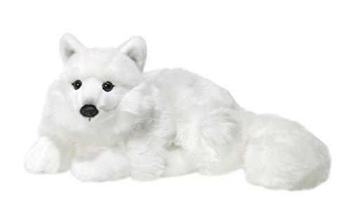 WWF pluche collectie WWF16981 - pluche figuur polar vos liggend 25 cm, pluche dieren