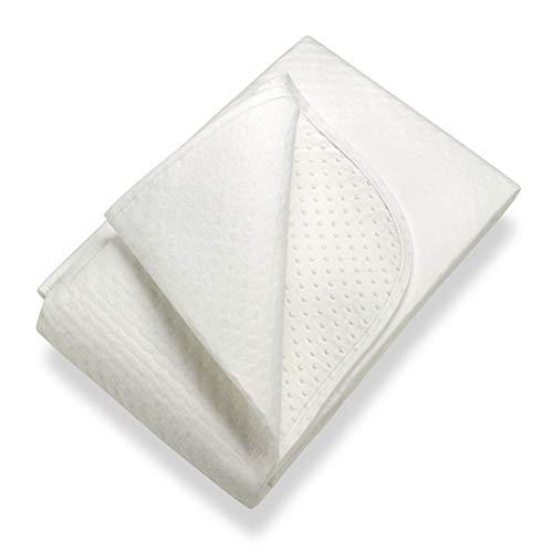SETEX Matratzenunterlage mit Noppen, Größe 140 x 200 cm, Classic, N450140200151002, Weiß