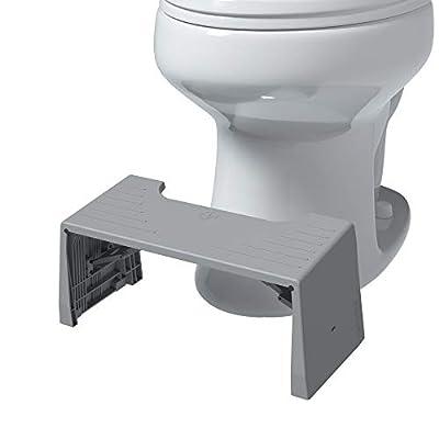 "Squatty Potty Porta Traveler Foldable Toilet Stool for Travel, 7"" Height, Gray by Squatty Potty LLC"