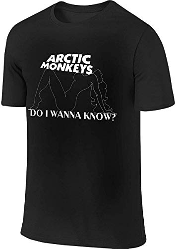 Arctic-Monkeys Do I Wanna Know Design T-Shirt for Man,Black,4X-Large