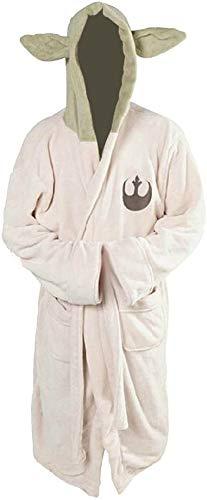 Yo-da Jedi - Albornoz de forro polar con capucha para disfraz de cosplay (talla adulta)