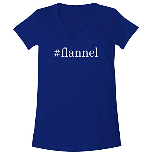 The Town Butler #Flannel - A Soft & Comfortable Women's V-Neck T-Shirt, Blue, X-Large