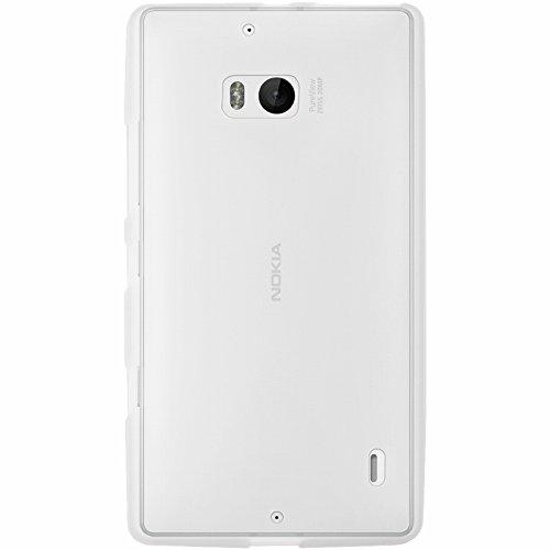 Mocca Design-Cover in Gel al Silicone per Nokia Lumia 930, Colore: Bianco