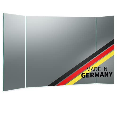 Spiegel ID Aurea Design: KLAPPSPIEGEL mit Hintergrundbeleuchtung - jetzt konfigurieren - Made in Germany - Auswahl: (Breite) 40 cm x (Höhe) 60 cm - Modell: 2702500 - LED Lichtfarbe: neutralweiß