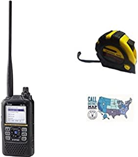 Bundle - 3 Items - Includes Icom ID-51A PLUS2 BLACK VHF/UHF D-STAR Handheld Radio, 5.5 Watts Max with the New Radiowavz Antenna Tape (2m - 30m) and HAM Guides Quick Reference Card