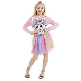 L.O.L. Surprise ! Robe Fille, Vetement Enfant Poupee LOL Licorne avec Jupe Patineuse en Tutu, Ensemble Été Confetti Pop…