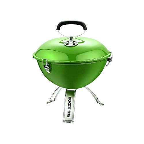 Tragbarer Grill Grill Grill im Freien Runde Brennholz Smokeless Barbecue 1-2 Personen for Garten Picknick Reise Camping Barbecue Multi Color Optional Außen Partei DYWFN (Color : Green)