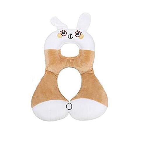 G-bel arbre siège auto bébé et poussette Oreiller, Oreiller Voyage bébé pour les enfants, du nourrisson et Childern, Soft Head et soutien du cou souple de la tête et du cou de soutien (Lapin blanc)