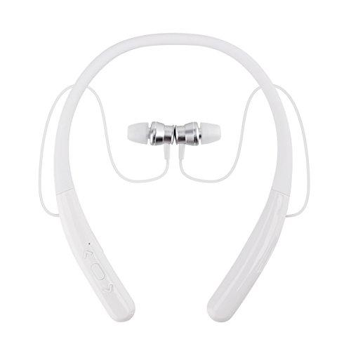 Yigenet Auricolare Bluetooth Cuffie Bluetooth 4.1 Senza Fili Disegno Neckband con Earbuds Retraibile per Iphone, Android, Tablet, altri Dispositivi Abilitati Bluetooth