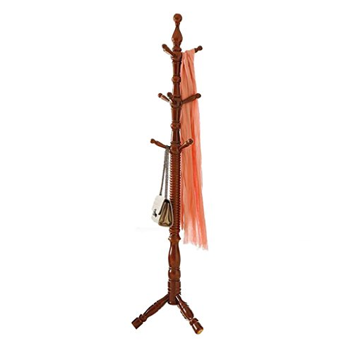 SKC Lighting-Porte-manteau Chambre européenne étagère simple étagères sol en bois massif salon cintre crémaillère créative