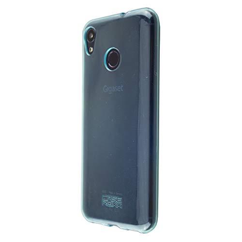 caseroxx TPU-Hülle für Gigaset GS185, Tasche (TPU-Hülle in blau mit & ohne Bildschirmschutz) (TPU-Hülle mit Bildschirmschutz, blau)