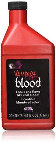 Flasche von Vampir-Kunstblut für Halloween, Theater-Make-Up für Kostüm, 473 ml