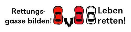 NV Mory & Meier - Rettungsgasse Bilden Aufkleber Weiss - 23x6 cm | Autoaufkleber | Autosticker | Helfen | Retten | Rettungsgasse bei Stau bilden (Weiß)