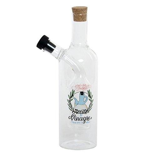 Dcasa - Aceitera borosilicato vinagrera Letras Vintage