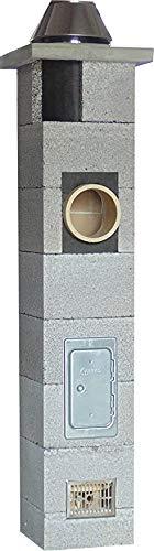 SUCCSALE-NICPONT Keramikschornstein Bausatz 3-Schalig Massiv DN180 7,00m