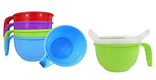 Set von Blake und Croft Soup Tassen,. Hitze in der Mikrowelle und nehmen es auf die Go. Ideal für Arbeit Schule und Mahlzeit Vorbereitung., mehrfarbig