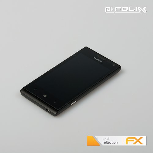 atFoliX Displayschutzfolie Huawei Ascend W1 (3 Stück) - FX-Antireflex, antireflektierende Premium Schutzfolie - 6