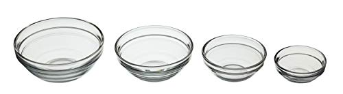 KitchenCraft Glass Baking Preparation / Measuring Bowls (Set of 4)