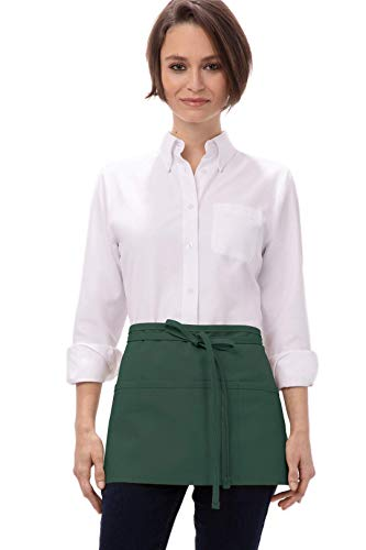 Chef Works unisex adult Waist Apron apparel accessories, Hunter Green, One Size US
