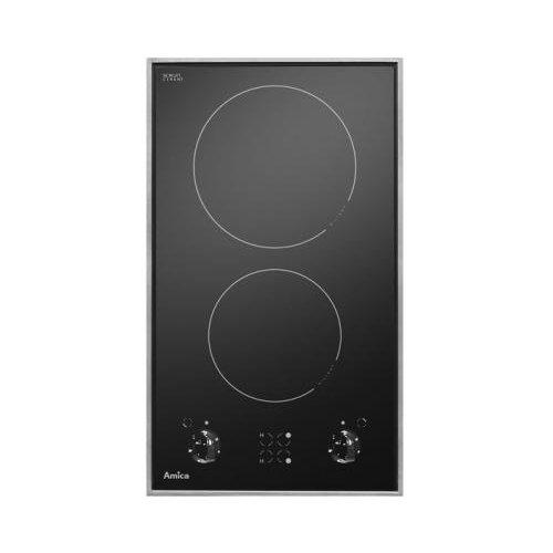 Amica Placa de cocción 23087 (eléctrica/empotrada), 2 fuegos, 29,0 cm, indicador de...