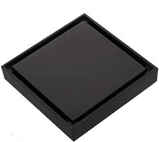 مربع الطابق النفايات الصبور 100x100 دش استنزاف أسود الحمام الطابق استنزاف بلاط إدراج النحاس الحمام التبعي