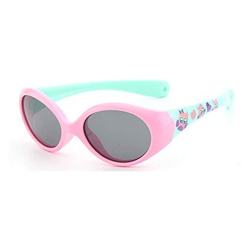 FOURCHEN Gafas de sol para bebés pequeños, 100% resistentes a los rayos UV, gafas de sol para niños pequeños para niños de 0 a 4 años (pink -green)