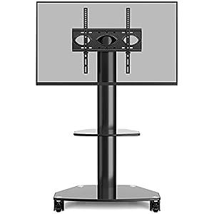 ▶ TV-KOMPATIBILITÄT - Passende VESA Normen von TV Ständer mit Rollen: 100x100 bis 400x400 mm, z.B. 400x400/400x300/400x200/200x400/300x300/300x200/200x200/200x100/100x200/100x100mm. Für die meisten 27 32 37 40 42 43 46 49 50 55 Zoll flach curved Fern...
