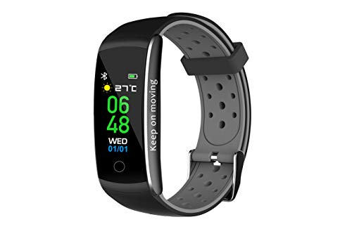 Denver Fitnessband with heartrate Monitor & Colour Display, Black