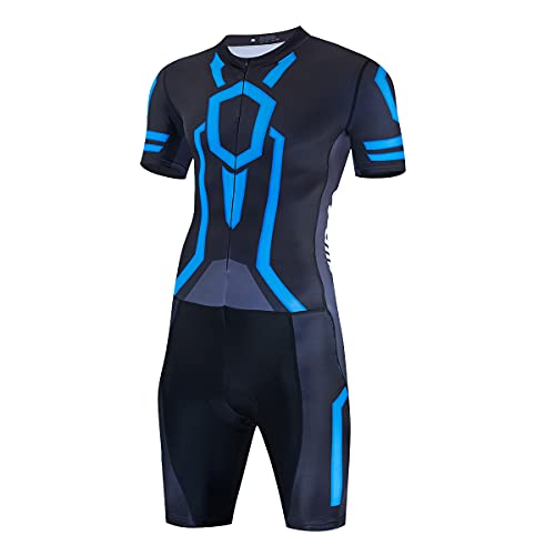 logas Triathlon Ironman Suit Mens Padded One Piece Tri Suit Quick-drying...