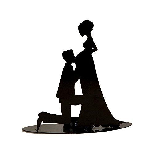 Mopec Figura de Novia Embarazada, Metal, Negro, 7x19x18 cm