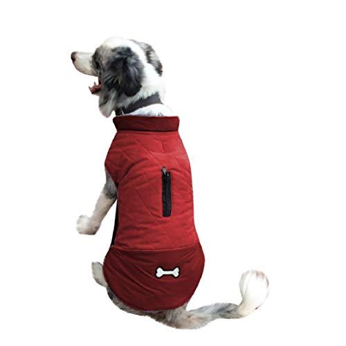 Jas winter waterdicht warme hondenmantel vest buiten buikbescherming winterjas wintermantel wintermantel voor honden