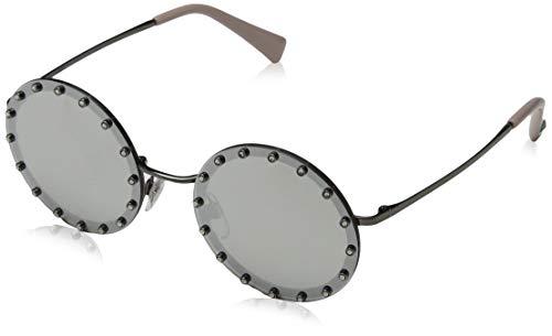 Valentino 0VA2010B 30056G 52 Gafas de sol, Plateado (Ruthenium/Lightgreymirrorsilver), Mujer
