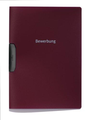 Durable 228931 Bewerbungsmappe Duraswing Job, bis 30 Blatt A4, aubergine, 5er Packung