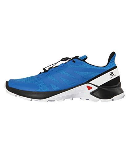Salomon Men's Supercross Trail Running Shoes, Indigo Bunting/Black/White, 9.5