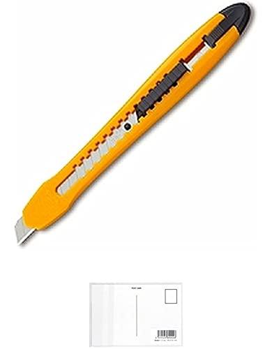 オルファ カッター エコカッターS型 イエロー 188BSY ×【 5 セット 】 + 画材屋ドットコム ポストカードA