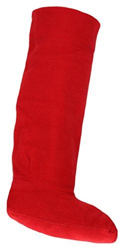 Damen Fleece Gummistiefel-socken Liner SK205 - Damen, Rot, 38