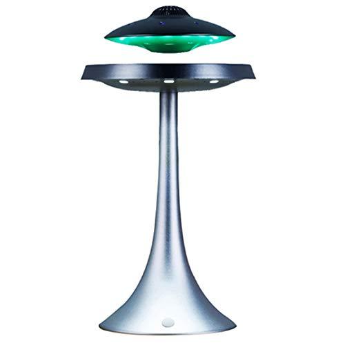 FGVDJ UFO-Stil Sieben Farb-LED-Leuchten, magnetische Levitating-WLAN-Ladungslautsprecher, Fliegende Saucer-Suspensionslicht mit drahtlosen Bluetooth-Lautsprecher