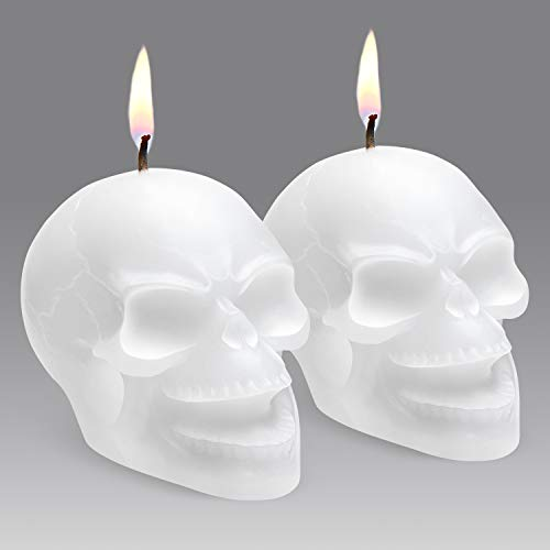 7-Star Skull Candle 2 Pack Horror and Novelty Decor, Home Decorative Themed Candles for Halloween,...