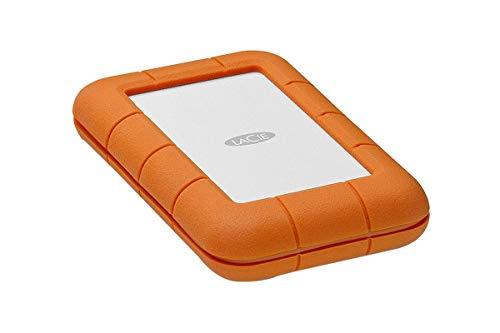 LaCie 2TB Rugged Thunderbolt USB-C External Hard Drive, Orange